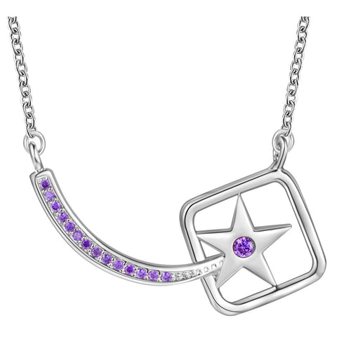 White Gold Plated Necklace LSN1438