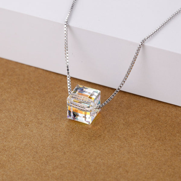White Gold Plated Necklace LSN1443
