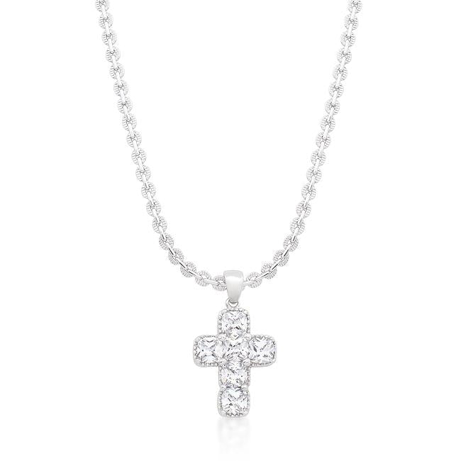 Contemporary Cross Pendant - P11389R-C01