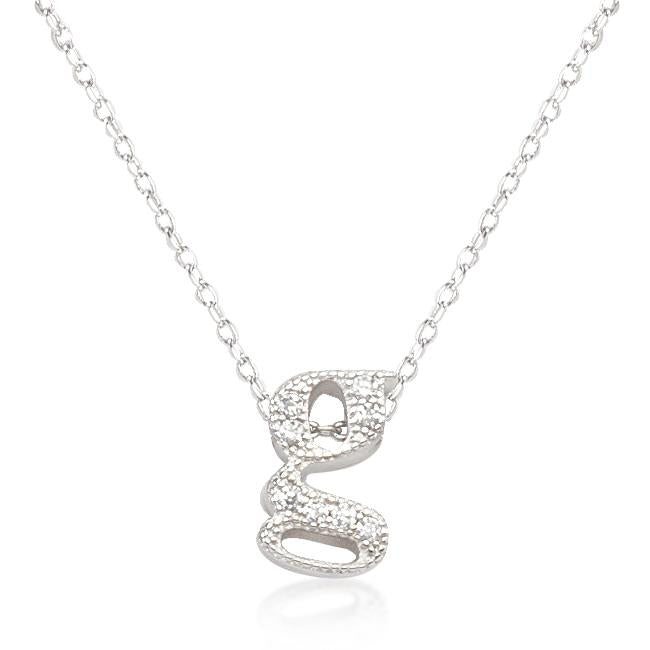 Micro-Pave Initial G Pendant - P11408R-C01-G
