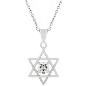 Star of David Solitaire Pendant - P50012R-S01