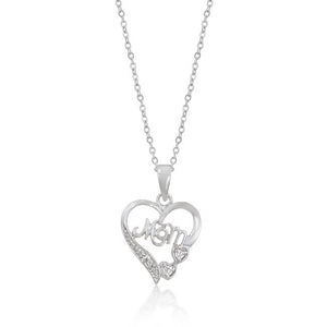 Mom Heart Pendant - P50118R-C01
