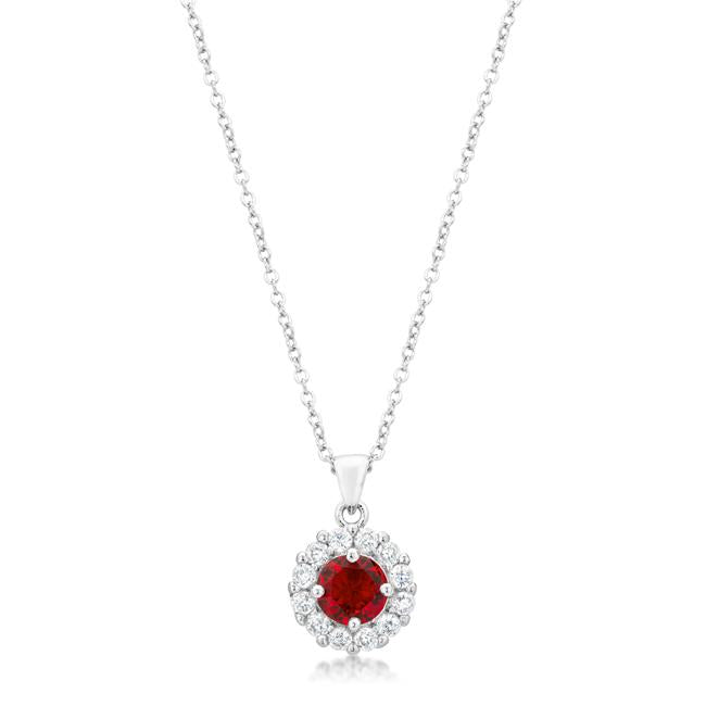 Bella Bridal Pendant in Ruby Red - P50163R-C10