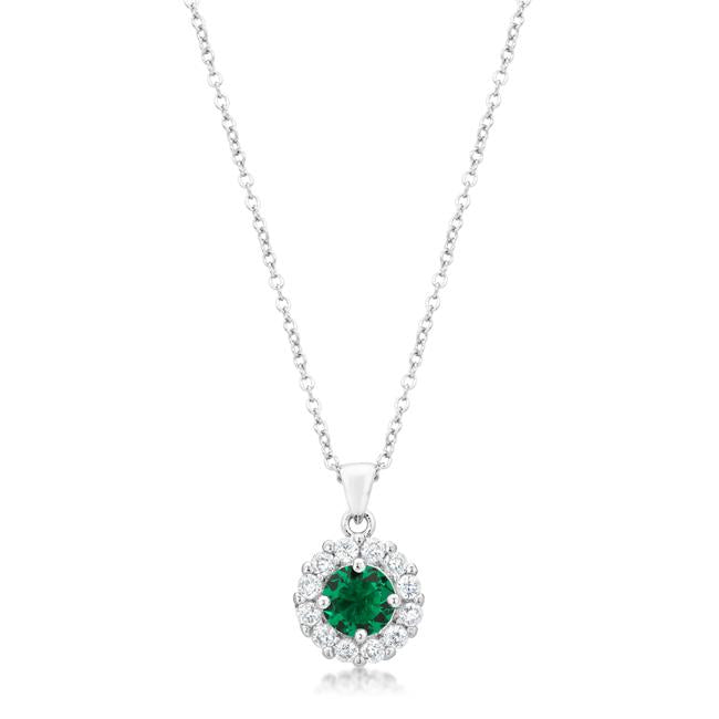 Bella Bridal Pendant in Green - P50163R-C40