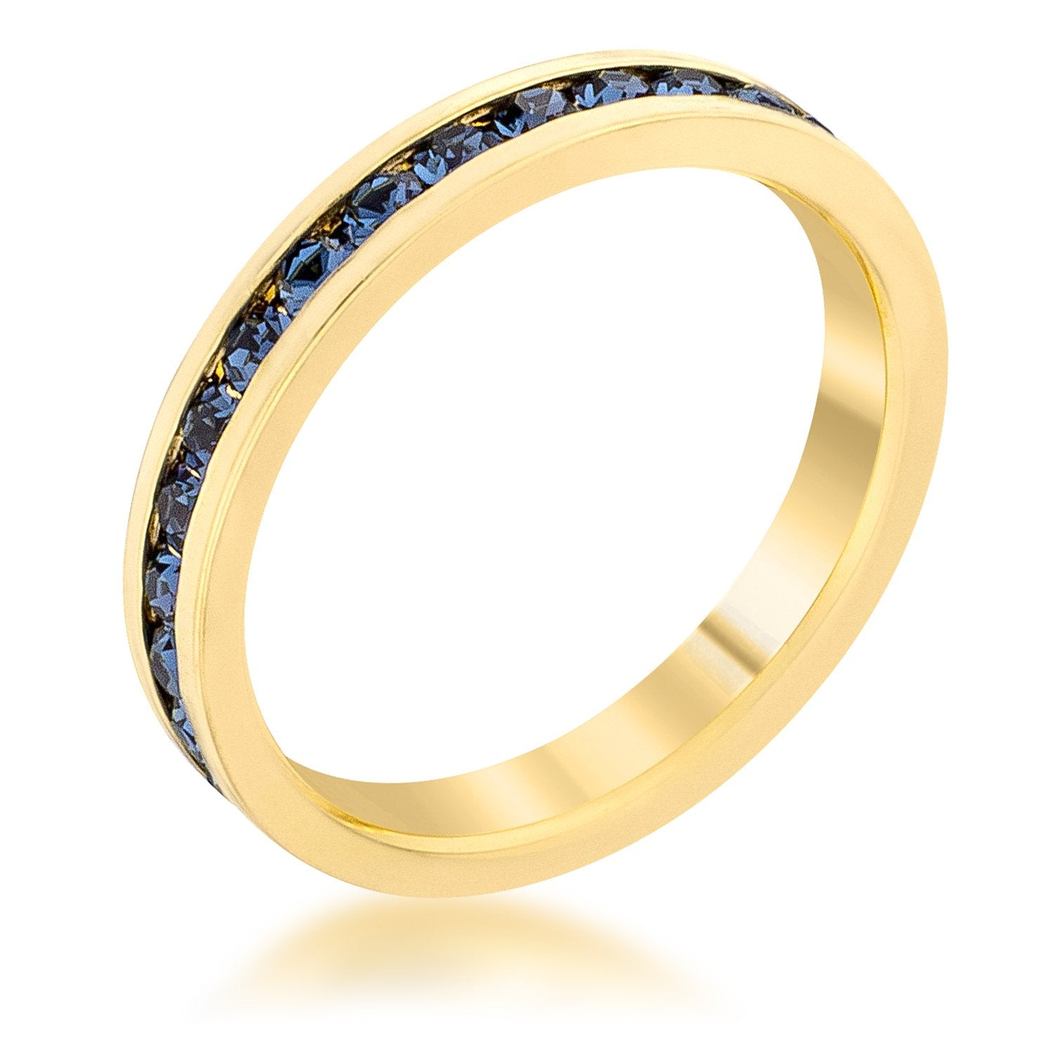Stylish Stackables Montana Blue Gold Ring - R01147G-C36