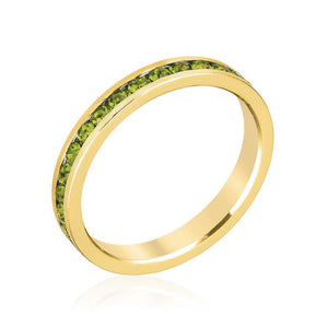 Stylish Stackables Olive Gold Ring - R01147G-C42