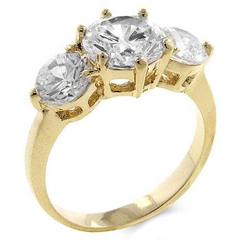 3-Stone Engagement Ring - R05906G-C01