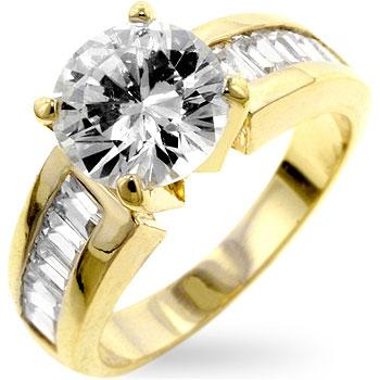Antoinette Golden Engagement Ring - R06884G-C01