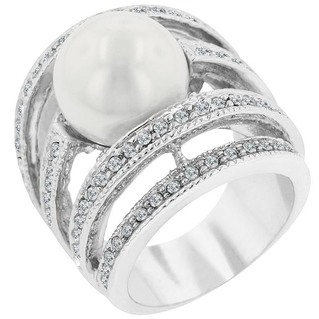 Right-Hand Pearl Ring - R07023R-V01