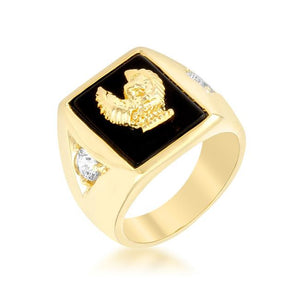 Golden Eagle Men's Ring - R07024G-C03