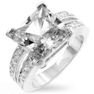 White Princess Engagement Ring - R07394R-C01