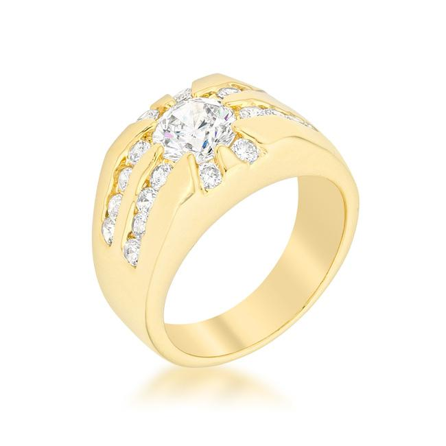 Cubic Zirconia Sunrise Ring - R07398G-C01
