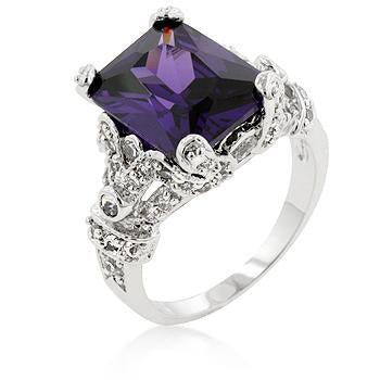 Amethyst Purple Princess Ring - R07434R-C20