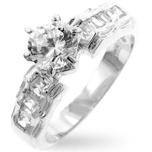 Cubic Zirconia Step Anniversary Ring - R07449R-C01