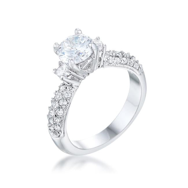 Classic Pave Bridal Ring - R07482R-C01