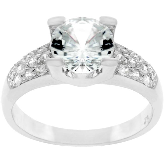 Classic Clear Engagement Ring - R07494R-C01
