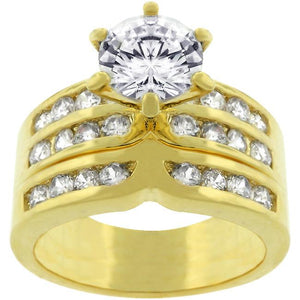 Formal Goldtone Engagement Set - R07524G-C01