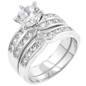 Formal Rhodium Plated Engagement Set - R07524R-C01