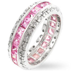 Pretty in Pink Eternity Band - R07529RS-C12