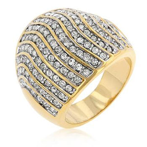 Pave Crystal Cocktail Ring - R07539T-C02
