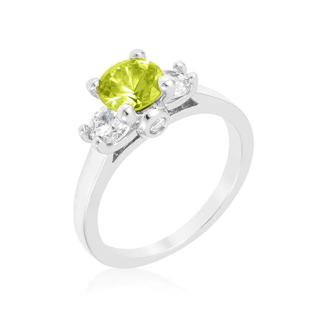Mini Peridot Triplet Ring - R07605R-C41