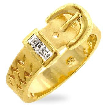 Golden Buckle Ring - R07650K-C01