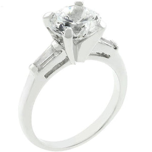 Classic Triple White Engagement Ring - R07785R-C01