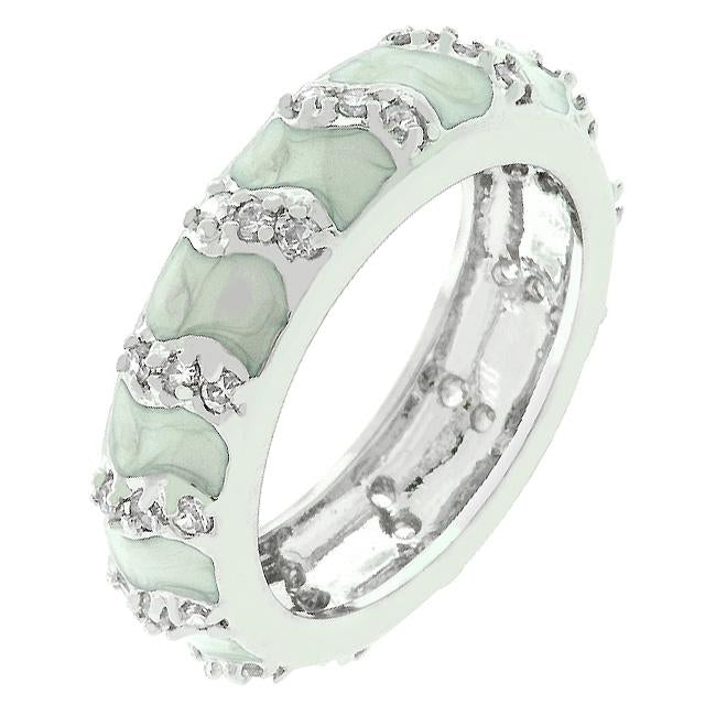 Gray Eternity Enamel Ring - R07869R-V29