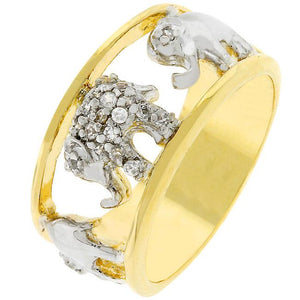 Pave Elephant Ring - R07888T-C01