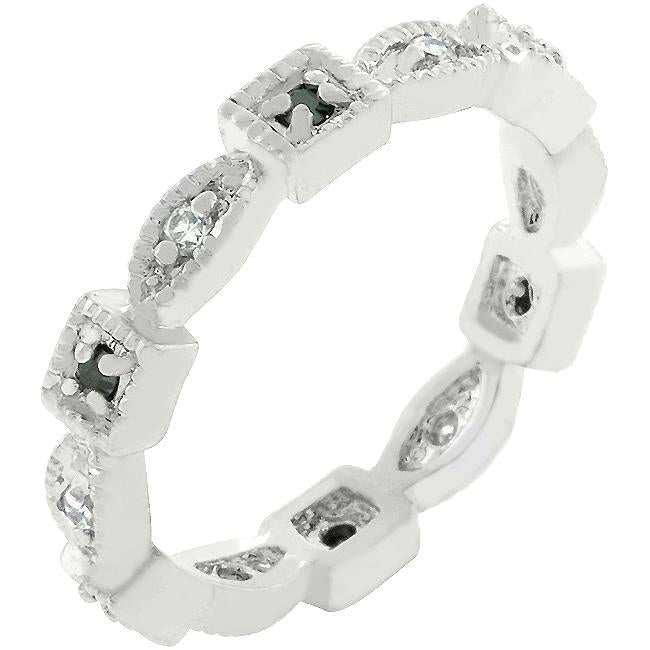 Square and Oval Eternity Band - R07931R-C03