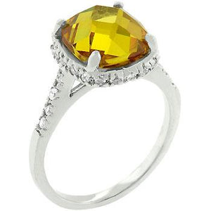 Rose-Cut Canary Ring - R08027R-C61