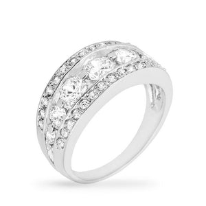 Tiered Anniversary Ring - R08031R-C01