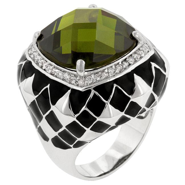Olive Jester Cocktail Ring - R08053R-C42