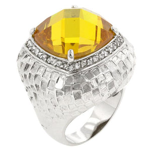 Citrine Dome Cocktail Ring - R08056R-C61