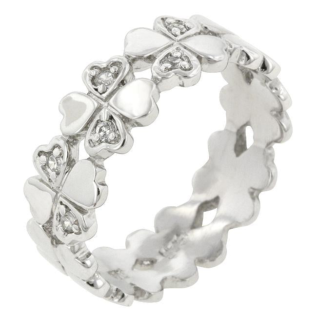 Clover Hearts Ring Band - R08069RS-C01