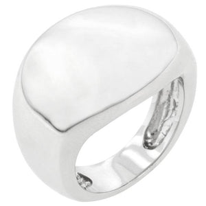Liquid Silver Fashion Ring - R08086R-V00