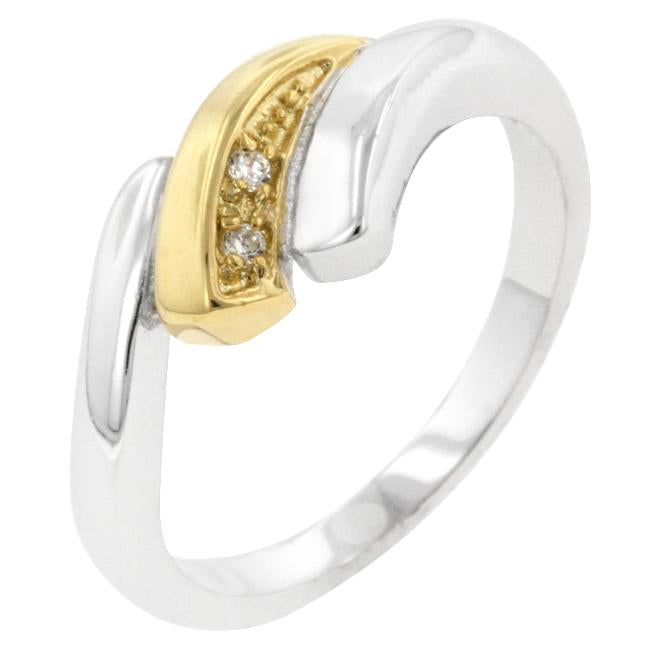 Two-tone Swirl Ring - R08100T-C01