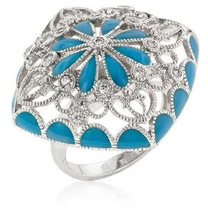 Blue French Victorian Ring - R08138R-V01