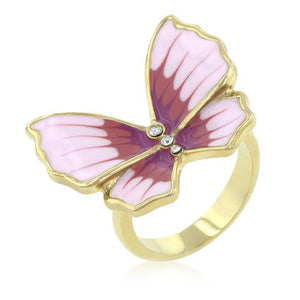 Butterfly 3-Stone Ring - R08147G-V01