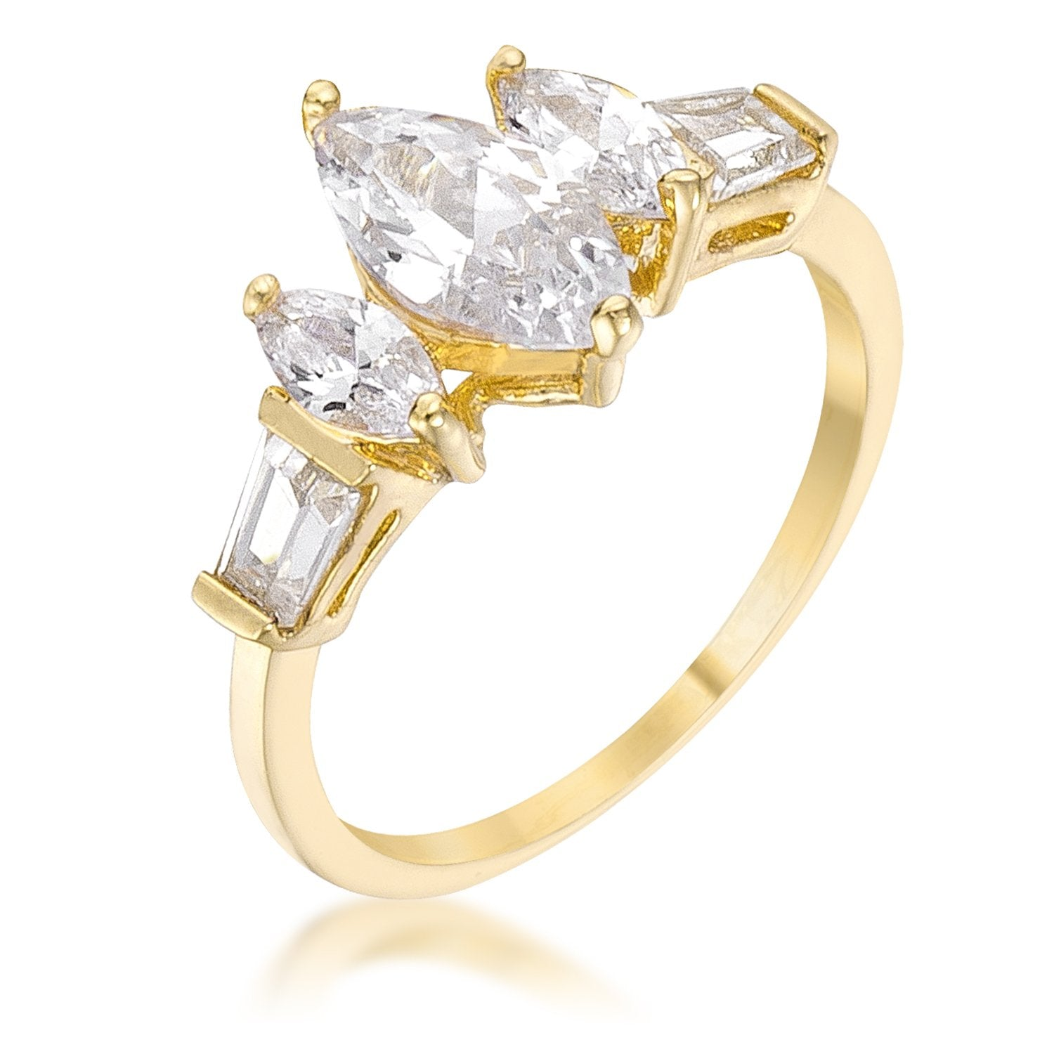 Marquise Triplet Engagement Ring - R08170G-C01