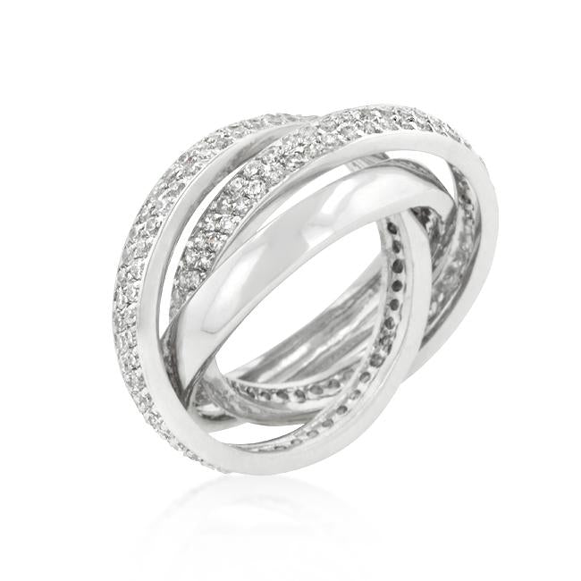 Eternity Band Triplet with Clear Cubic Zirconia - R08193R-C01