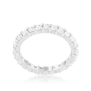 Cubic Zirconia Eternity Band - R08210R-C01