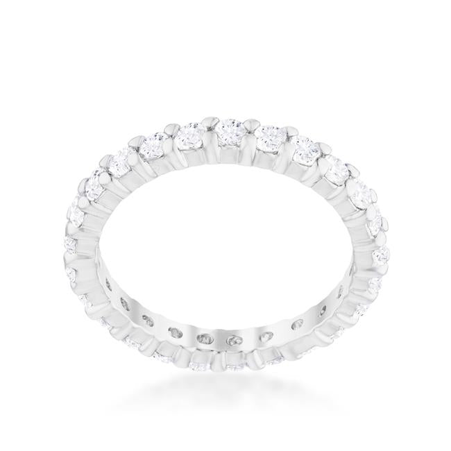 Cubic Zirconia Sterling Silver Eternity Band - R08210RS-C01