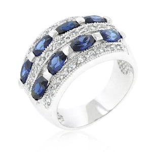 Pave Purple and Clear Cubic Zirconia Cocktail Ring - R08214R-C21
