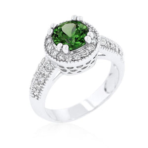 Emerald Halo Engagement Ring - R08226R-C40