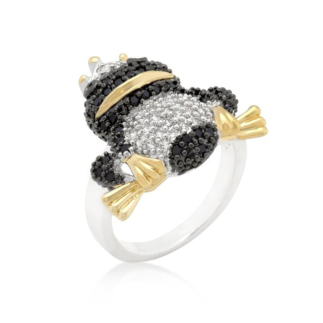 Cubic Zirconia Frog Prince Ring - R08278T-V01