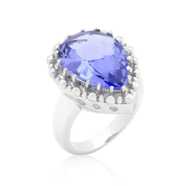 Solitaire Light Purple Cocktail Ring - R08287R-S21