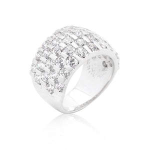 Channel Set Princess Cut Ring - R08305R-C01