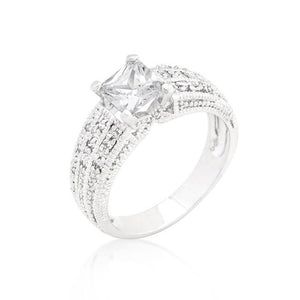 Cubic Zirconia Princess Cut Ring - R08326R-C01