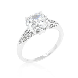 Contemporary Engagement Ring with Large Center Stone - R08331R-C01
